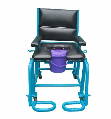 Commode Chair with Castor Wheels