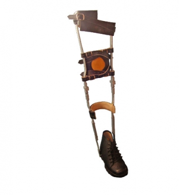 Leather Long leg Brace