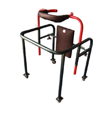 Child walking frame with back